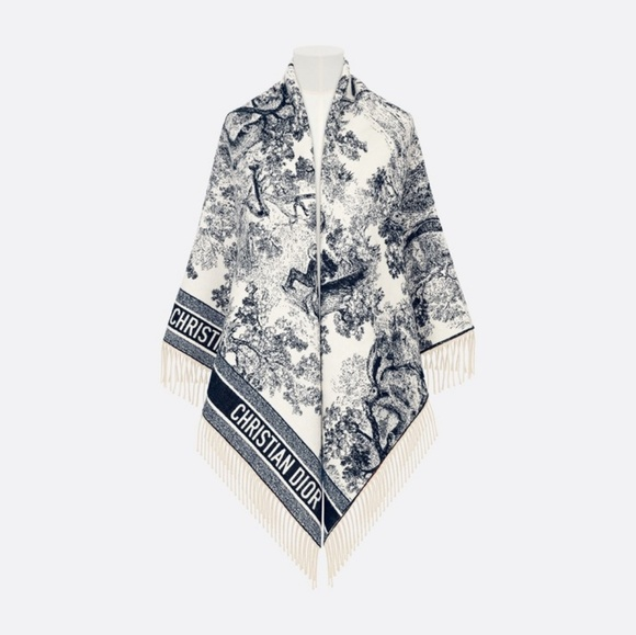 Dior Accessories Christian Toile De Jouy Shawl Blanket